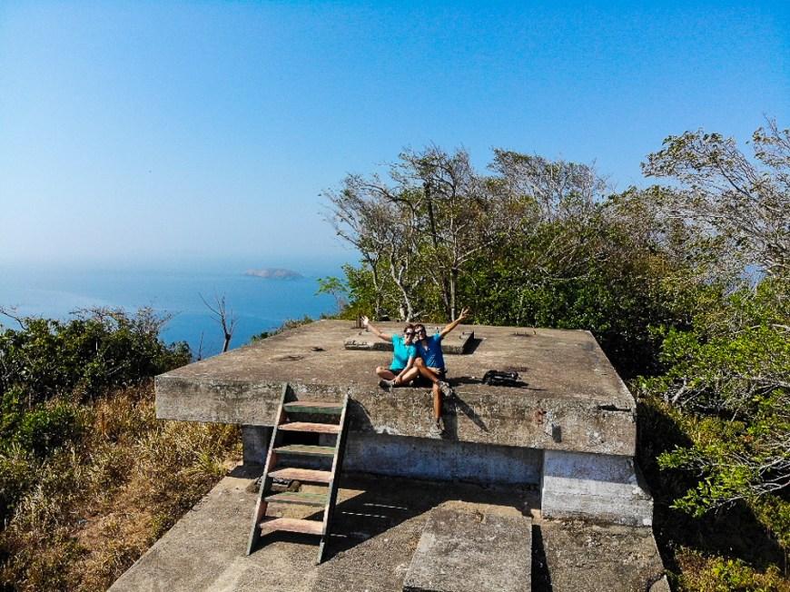 Randonnée au sommet de l'île de Taboga près de Panama City.