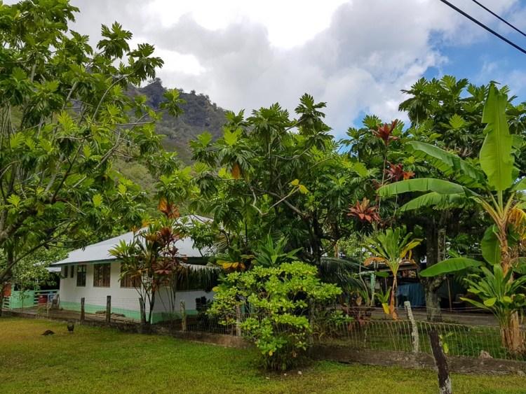 Maison du village d'Hanavave sur Fatu Hiva.