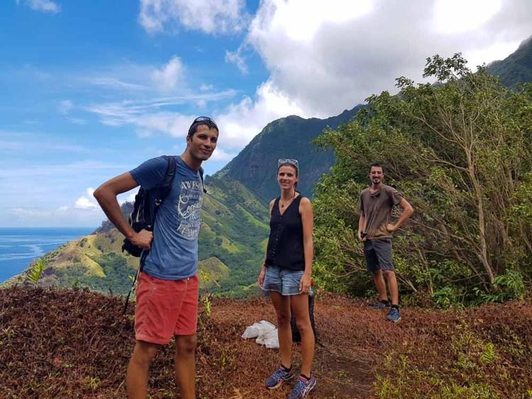Avec Dir Na Dor sur les hauteurs de Hanavave.