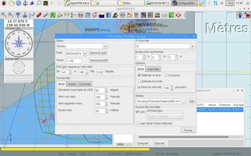 Paramétrage du routage sur le logiciel OpenCPN