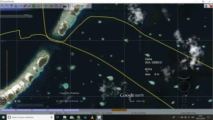 Passe de Raroia vue satellite