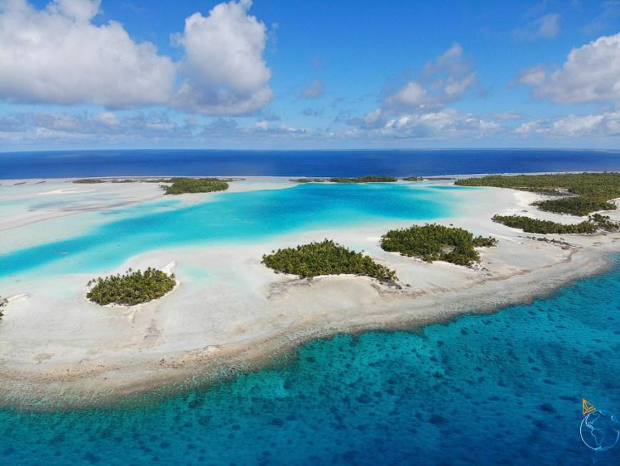 Le lagon bleu vu de notre drone Mavicair Dji.