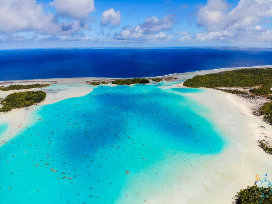 Les couleurs turquoises du Lagon Bleu vu du ciel, depuis notre drone Dji Mavicair.