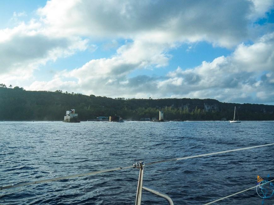 Le débarquadère de Makatea à l'ouest de l'île.