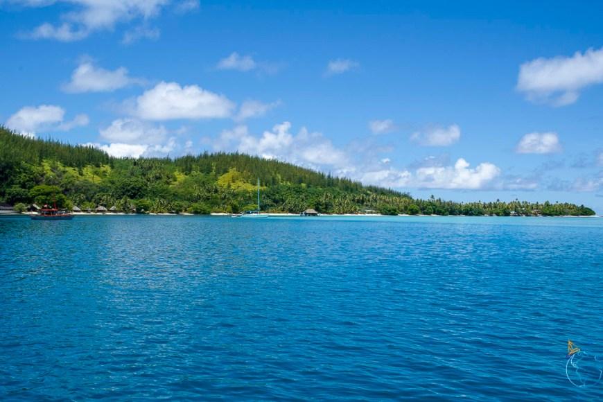 La baie d'Avea au sud de l'île de Huahine.