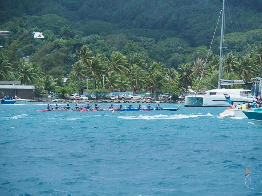 La Hawaiki Nui Va'a, course de pirogues à balancier.