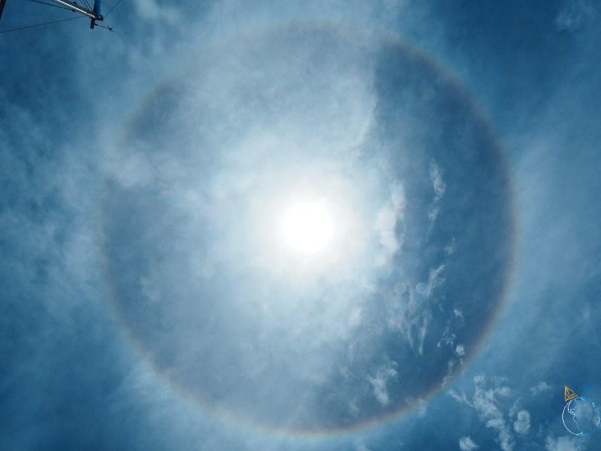 Halo au-dessus de notre tête à Bora Bora.