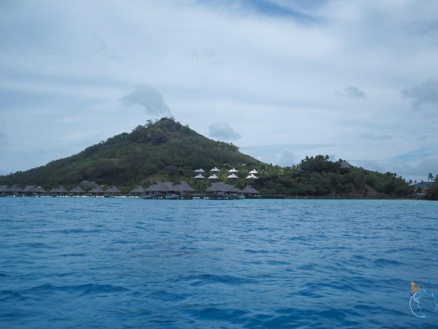 L'hôtel Conrad Nui à l'ouest de l'île de Bora Bora.