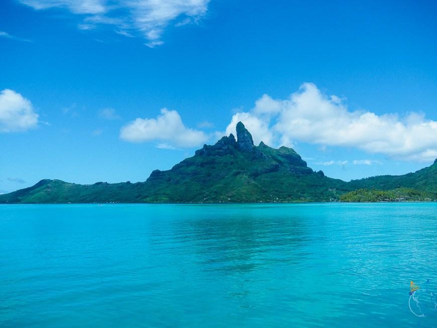 La vue majestueuse sur Bora Bora à l'est du lagon.