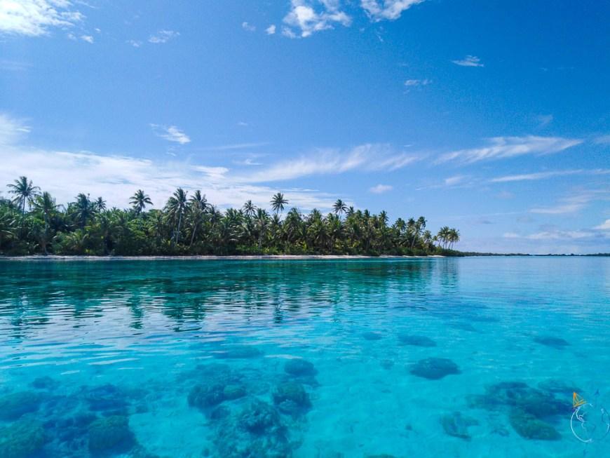 Motu Paeao au nord de l'île de Maupiti.