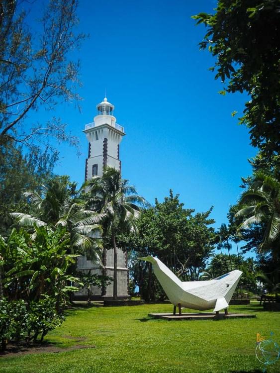 Phare de Tahiti dans le parc de la pointe Vénus.