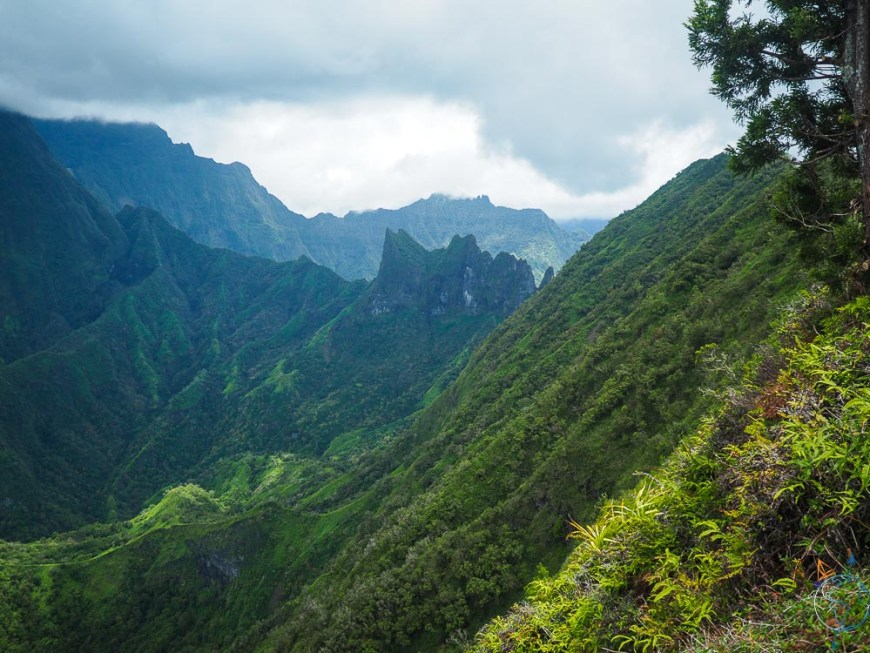Le sommet du diadème à Tahiti.