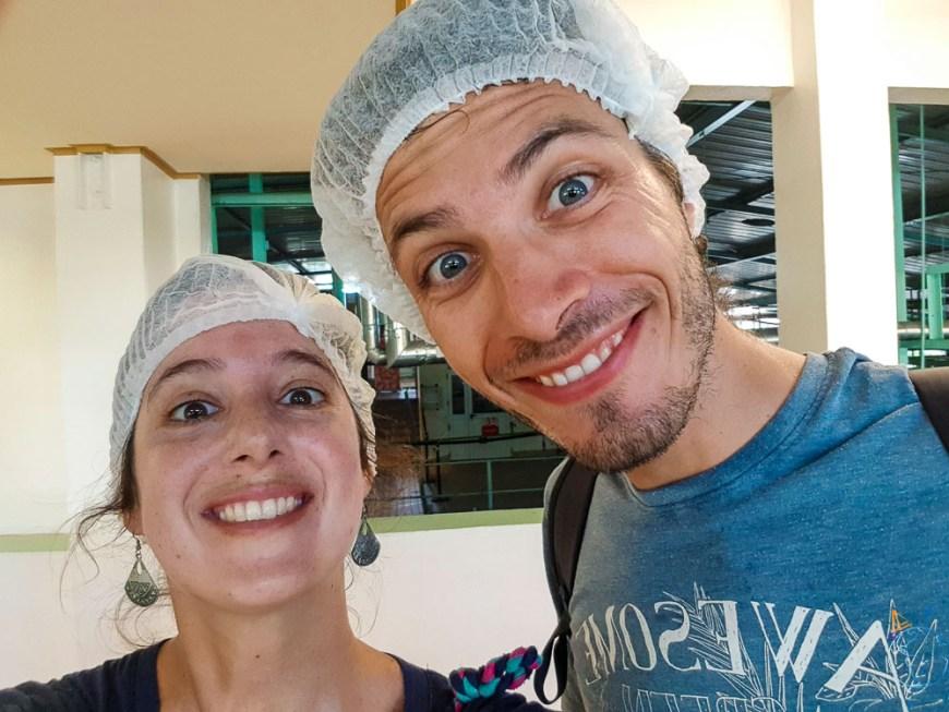 Parés pour la visite de l'usine Rotui et de ses jus de fruits !