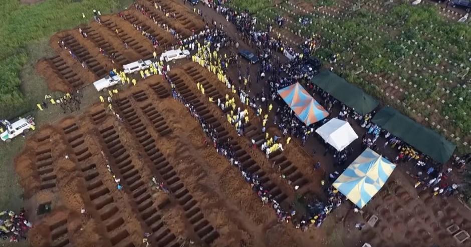 Freetown Landslide graves
