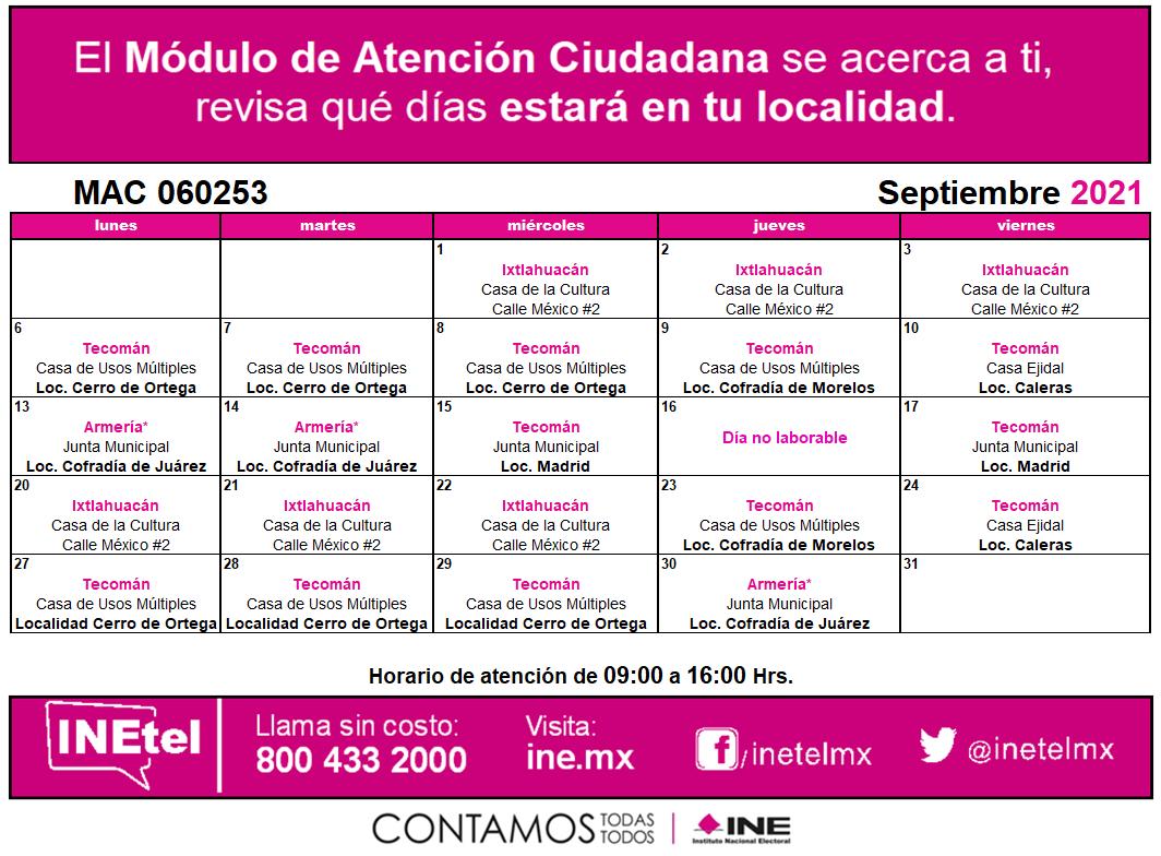 INE inicia campaña con horario ampliado de 8 a 8 en Manzanillo