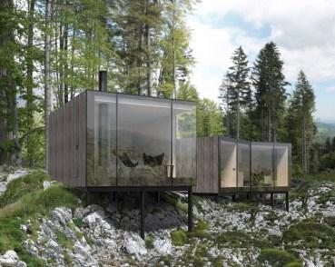 Autonómne drevené chatky EcoCabins, Králiky