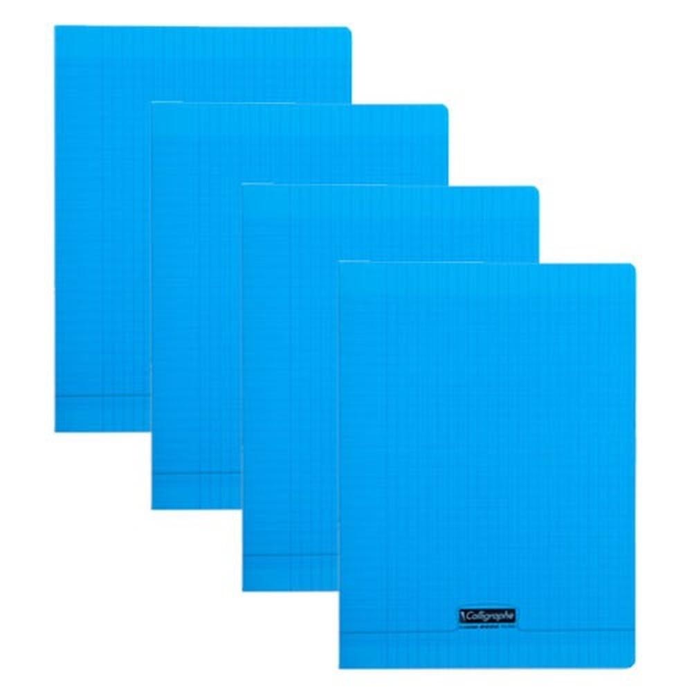 cahier grands carreaux 192 pages 210x297 polypro bleu