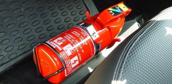 Como usar o extintor do carro