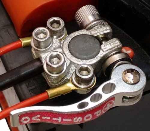 Zinabre de bateria de carro