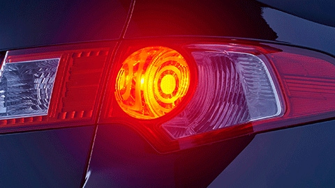 Lâmpada vermelha de dois polos