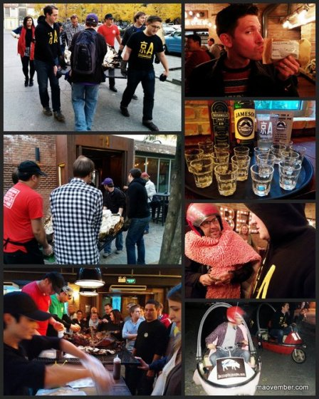maovember 2014 home plate bbq jing-a the local pub crawl collages beijing china