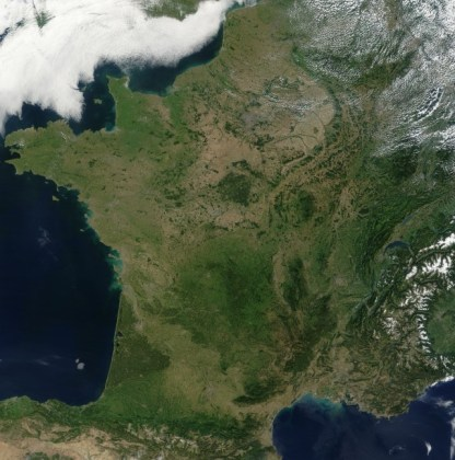 SATELLITE MAP OF FRANCE   Search and localization on the satellite     satellite france map