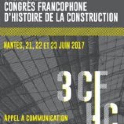 Participation au 3ème Congrès Francophone d'Histoire de la Construction