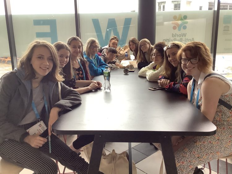 Young Commissioners from Broadland, Breckland and West Norfolk YAB at the World Anti Bullying Conference.
