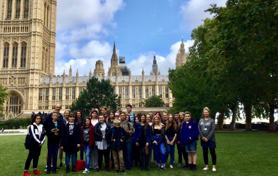 Breckland YAB visiting the UK Parliament.