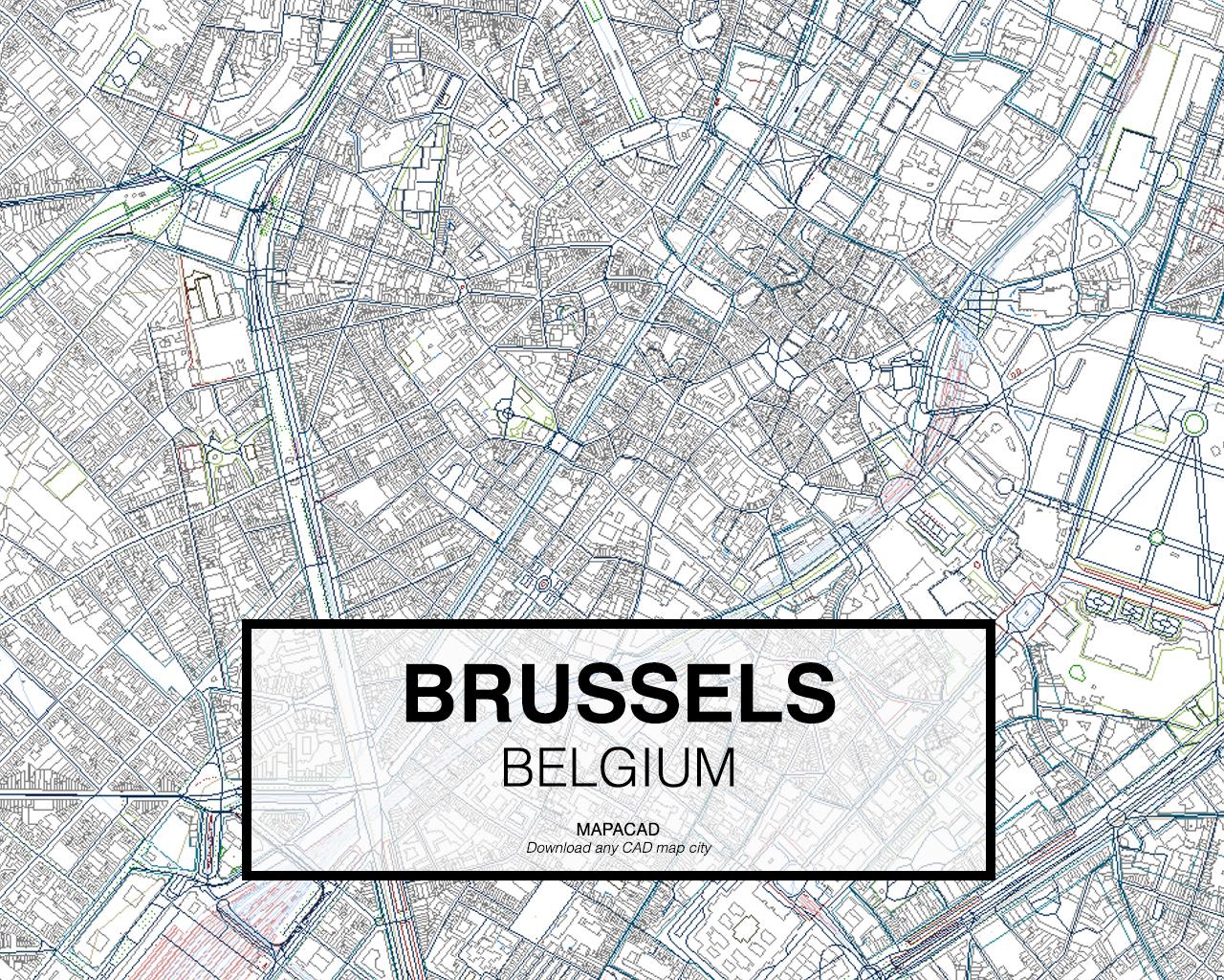 Brussels DWG Mapacad - Brussels belgium map