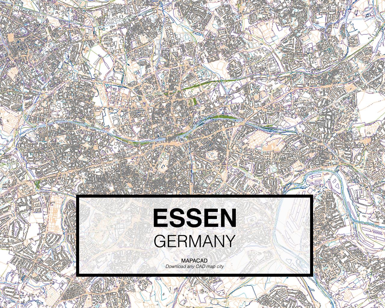 Download Essen DWG Mapacad - Germany map essen