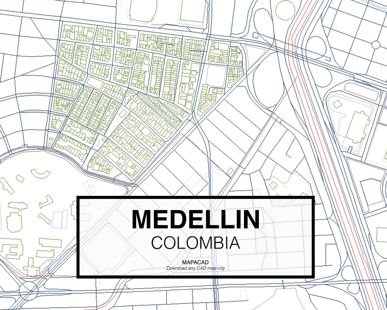 Medellin medellin colombia 03 mapacad download map cad dwg gumiabroncs Gallery