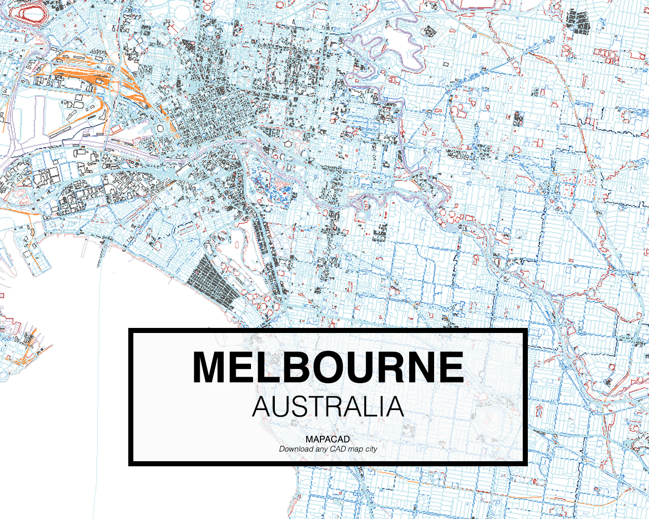 Download melbourne dwg mapacad melbourne australia 02 mapacad download map cad dwg gumiabroncs Choice Image