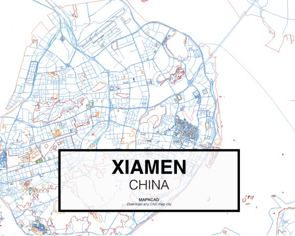 Xiamen-China-02-Mapacad-download-map-cad-dwg-dxf-autocad-free-2d-3d