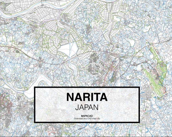Narita-Japan-01-Mapacad-download-map-cad-dwg-dxf-autocad-free-2d-3d