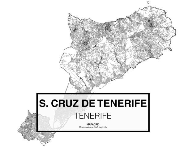Santa Cruz de Tenerife-01-download-map-cad-dwg-dxf-autocad-free-2d-3d