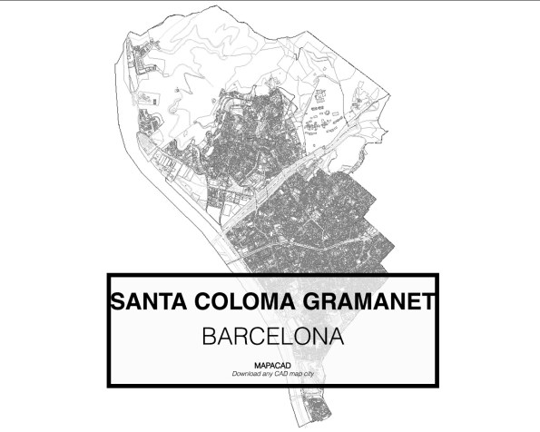 Santa Coloma de Gramanet-Barcelona-01-Mapacad-download-map-cad-dwg-dxf-autocad-free-2d-3d