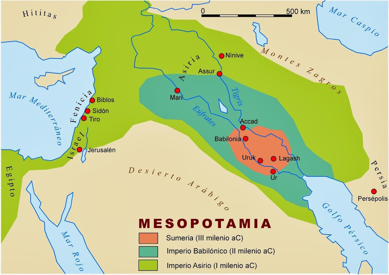 Resultado de imagen para Mapa de la Antigua Mesopotamia