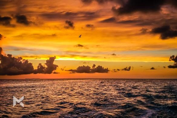 Pôr-do-sol visto de Key West, no sul da Flórida.