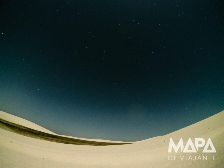 Céu estrelado nos Lençóis Maranhenses