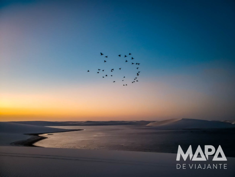 Pôr-do-sol Lagoas Emendadas