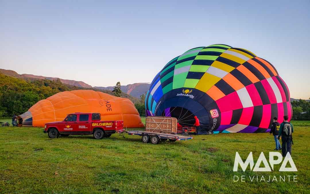 O que fazer em Praia Grande: Voo de Balão Mapa de Viajante