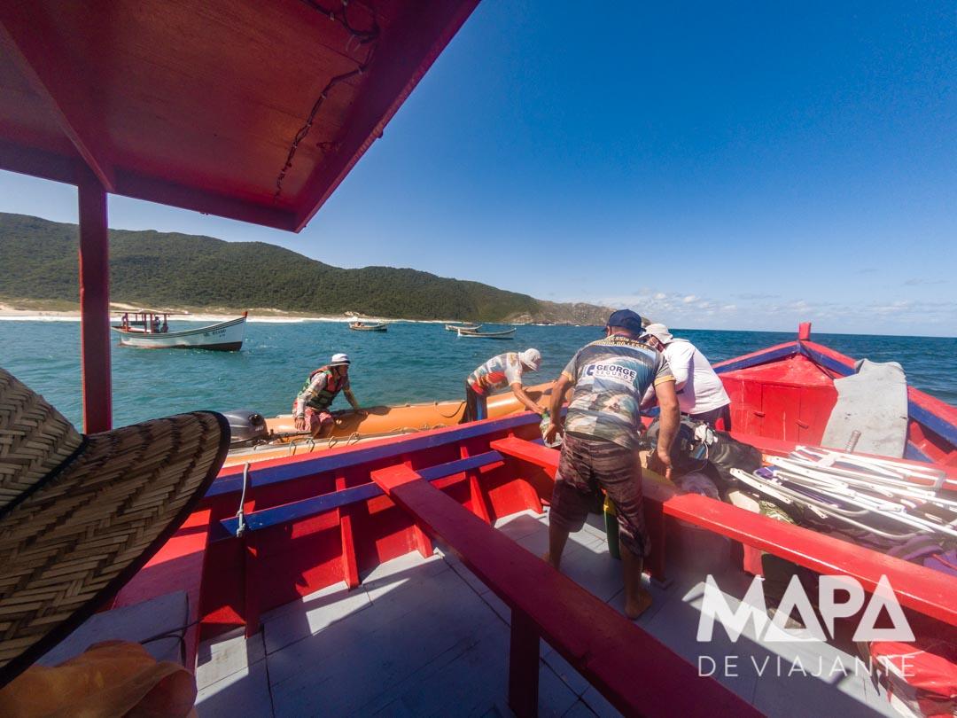 Barco até a praia da Lagoinha do leste
