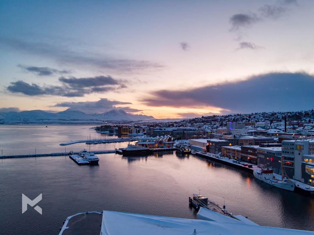 Cidade de Tromso na Noruega