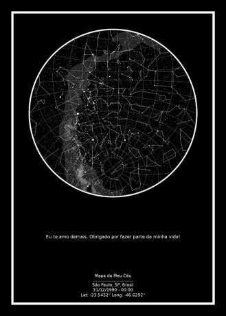 mapa do meu ceu no fundo preto