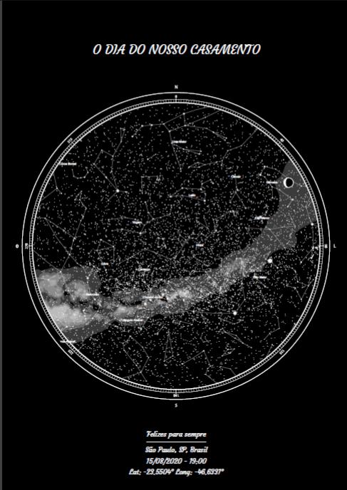 mapa do meu céu como presente para marido