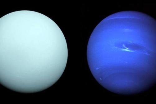 Urano e Netuno juntos