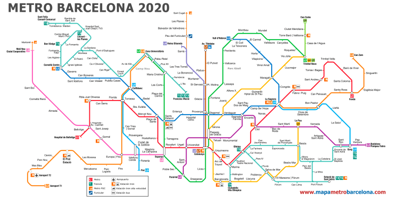 Barcelona Subway Map With City Map Overlay.Barcelona Metro Map With Tourist Attractions Pdf Leancy Travel
