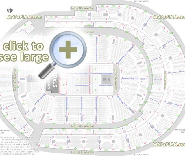 Detailed Seat Row Numbers End Stage Concert Sections Floor Plan Map Arena Lower Club Upper Bowl