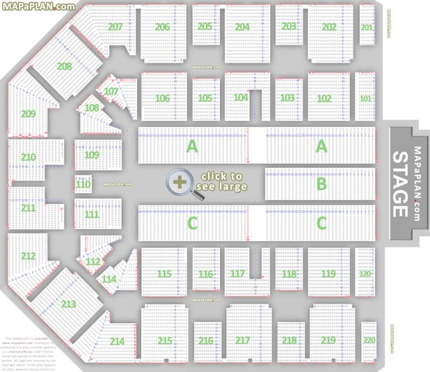 Barclay arena birmingham seating chart one direction for Barclays floor plan